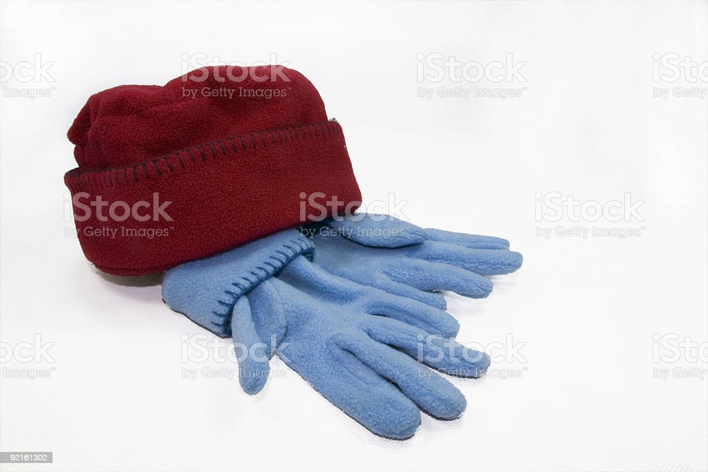 gloves and hat royalty-free stock photo