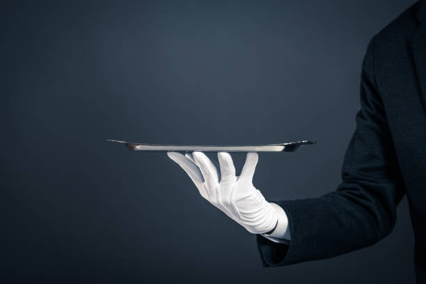 Handschuhe und Tablett – Foto