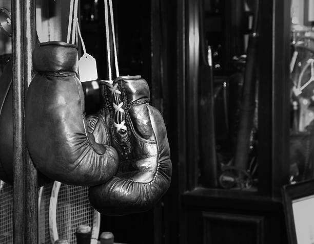 Gloves boxer vintage. stock photo