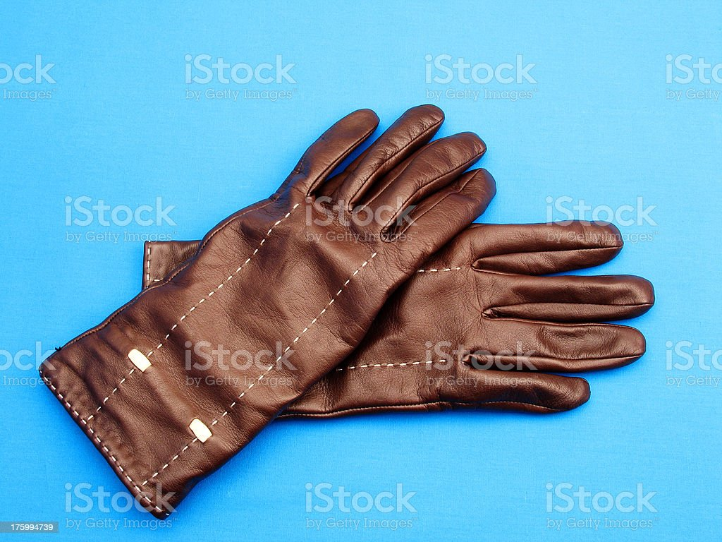 Gloves On Blue royalty-free stock photo