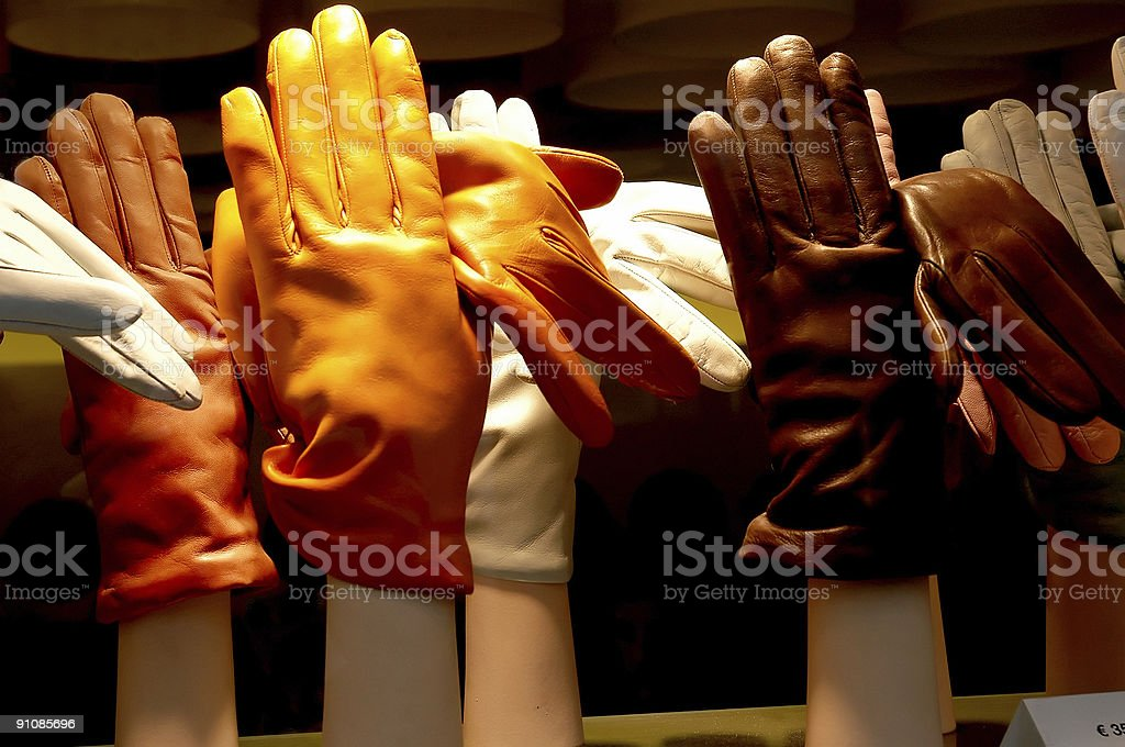Gloves on stand royalty-free stock photo