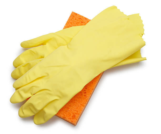 Gloves & Sponge stock photo