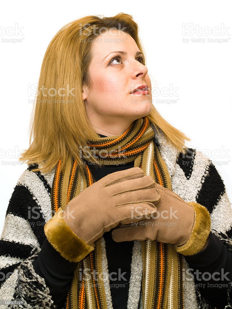 gloves woman royalty-free stock photo