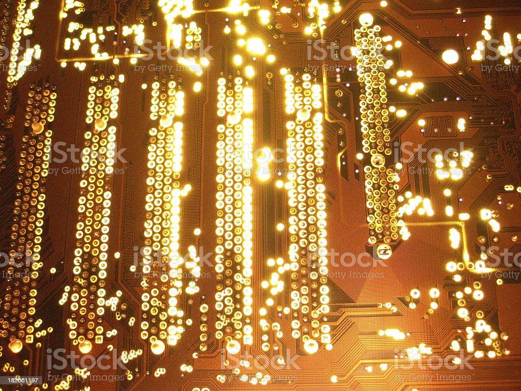 Glow Motherboard stock photo