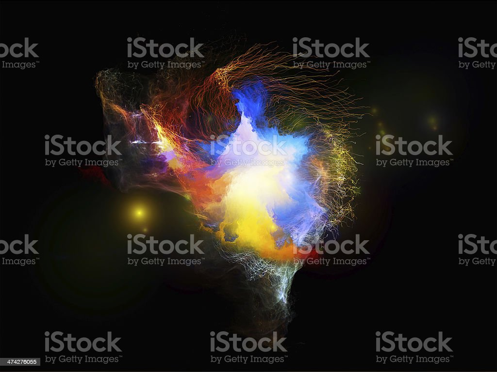 Glow of Fractal Jellyfish royalty-free stock photo