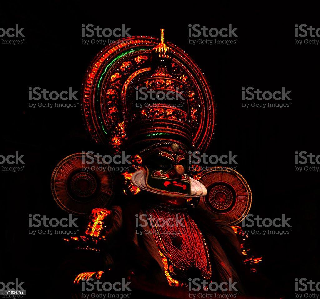 Glow of Kathakali dance stock photo