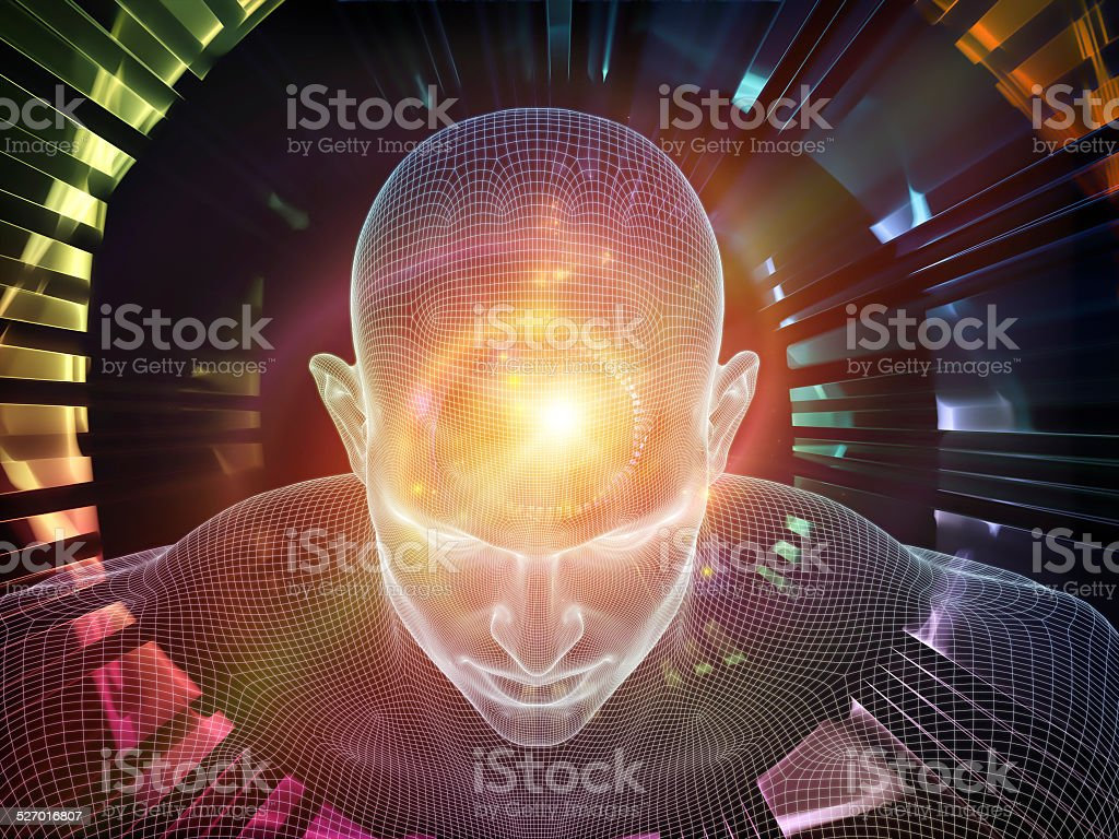 Glow of the mind stock photo