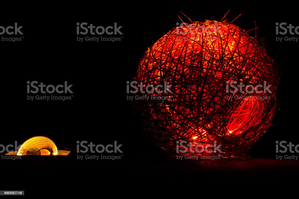 Glow with the light of Majesty stock photo