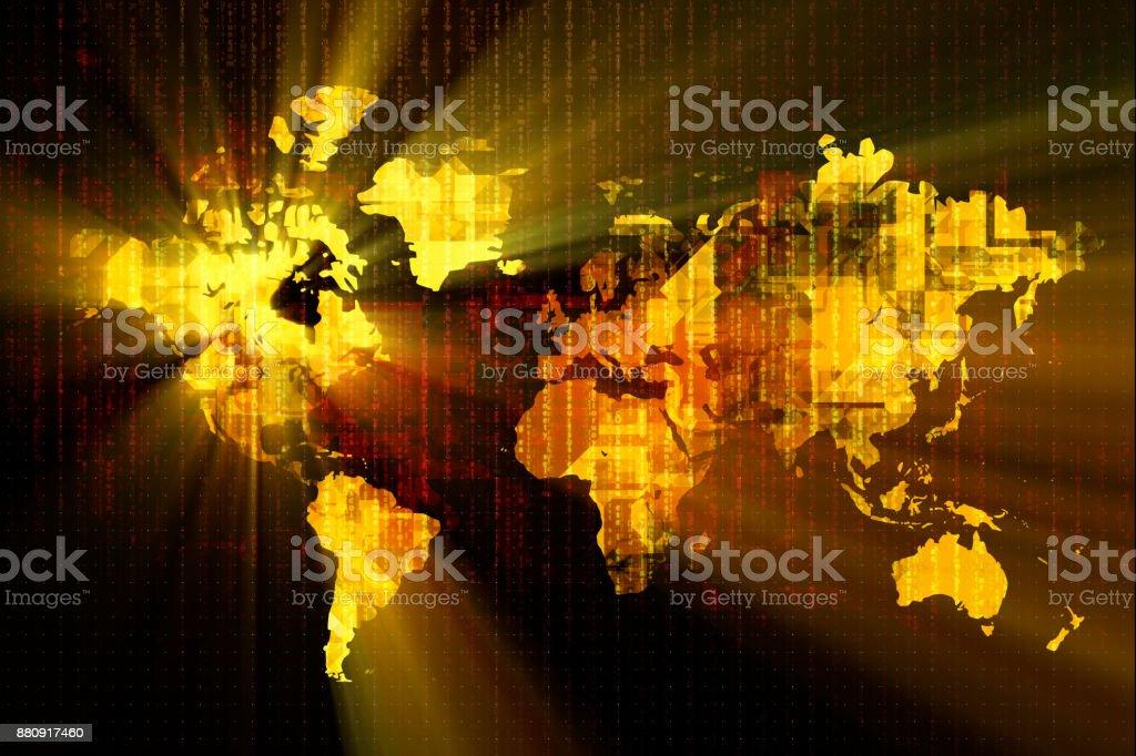 Glowing America Technology Backgrounds stock photo