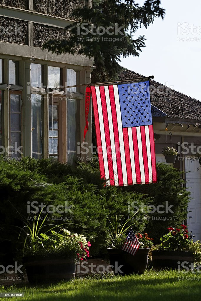 Glowing American Flag royalty-free stock photo