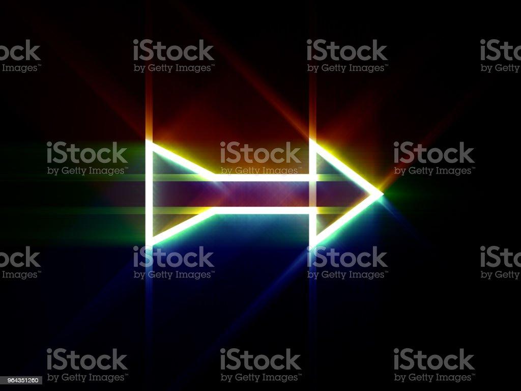 Seta brilhante sobre fundo preto. Ilustração digital. - Foto de stock de Abstrato royalty-free