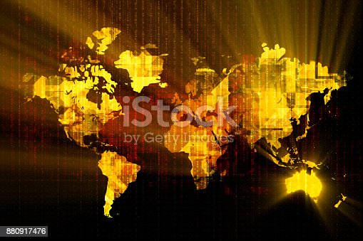 istock Glowing Australia Technology Backgrounds 880917476