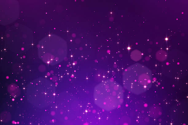 glowing bokeh background - violet stock photos and pictures