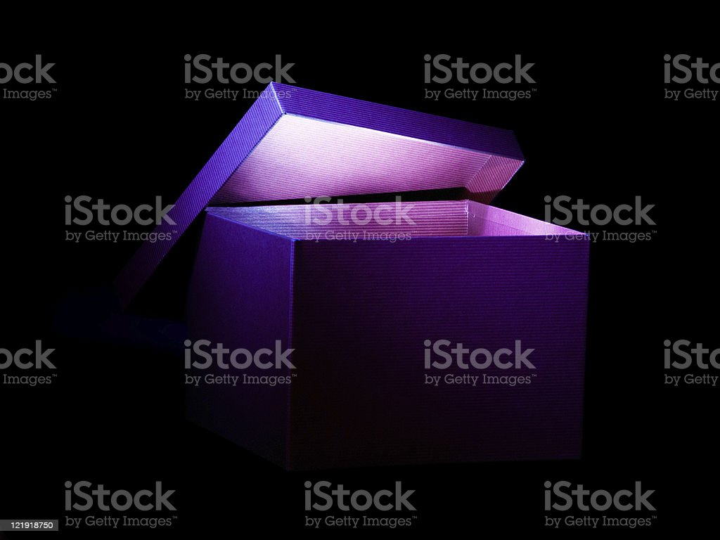 glowing box - with clipping path stock photo
