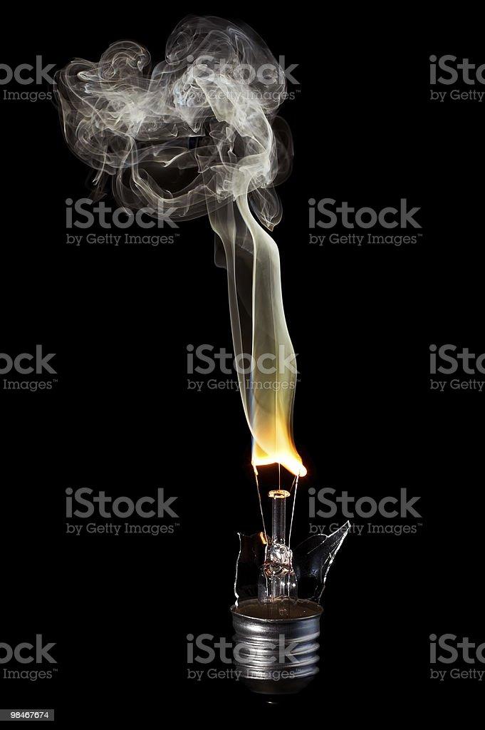 Glowing bulb royalty-free stock photo