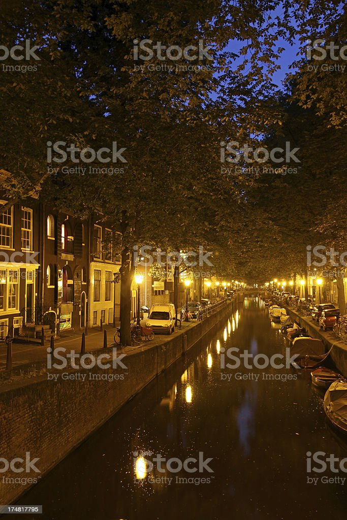 Glowing Canal royalty-free stock photo