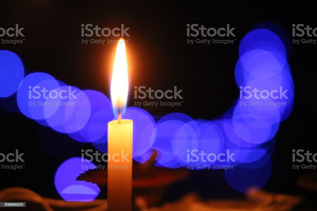 Glowing Candle Light stock photo