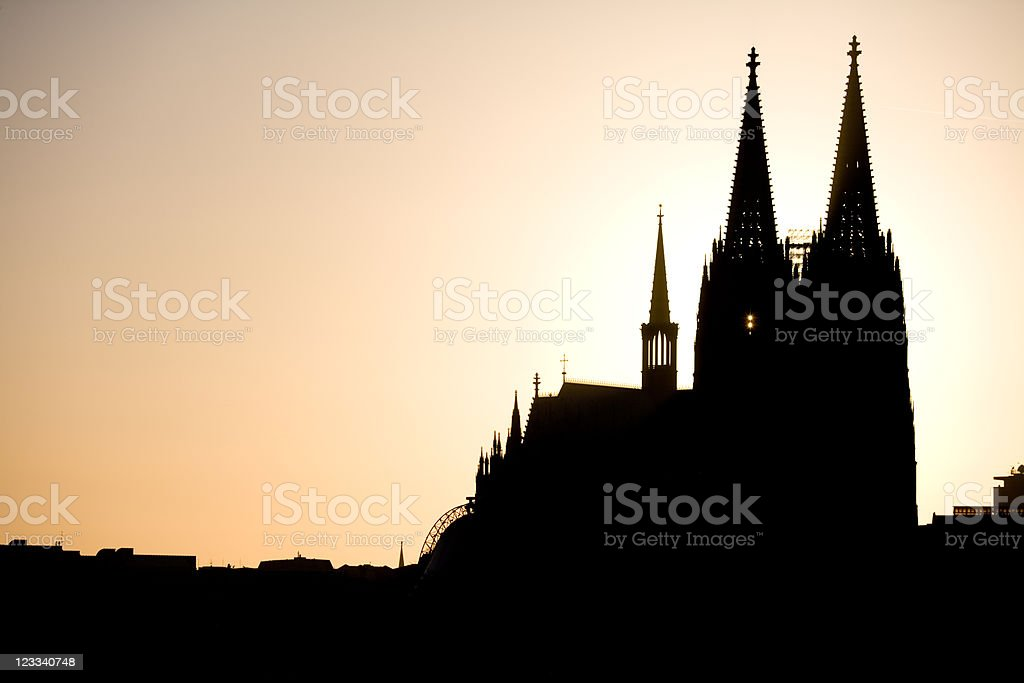 Glowing Cathedral royalty-free stock photo