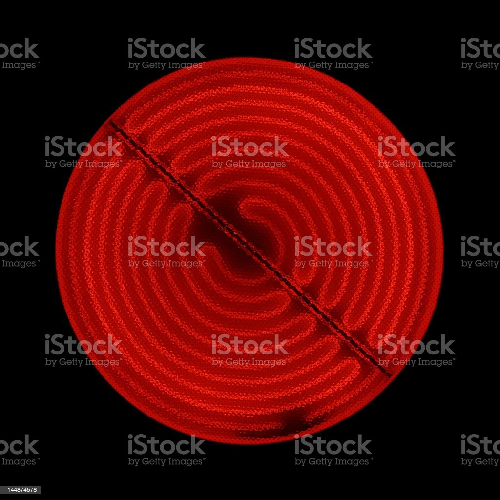 Glowing ceramic stove top stock photo