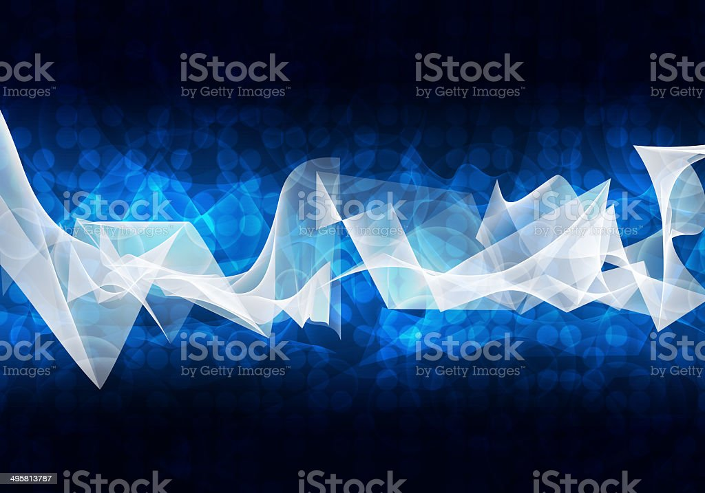 Glowing circles and waves. Hi-tech background stock photo