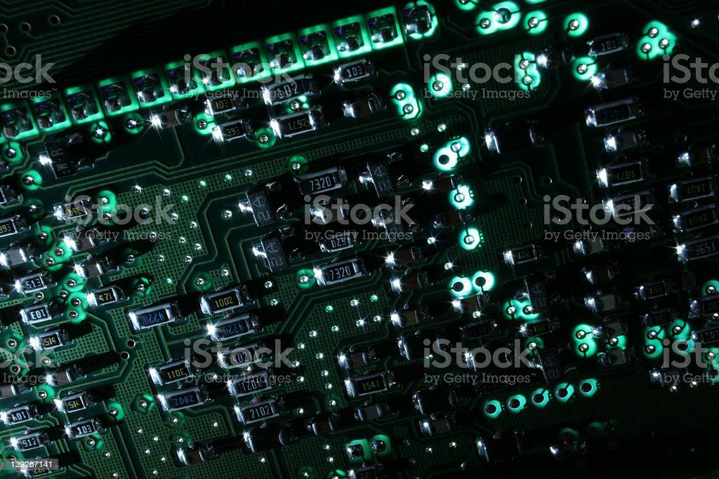 Glowing Circuit royalty-free stock photo