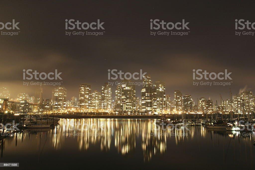 Светящийся города Стоковые фото Стоковая фотография