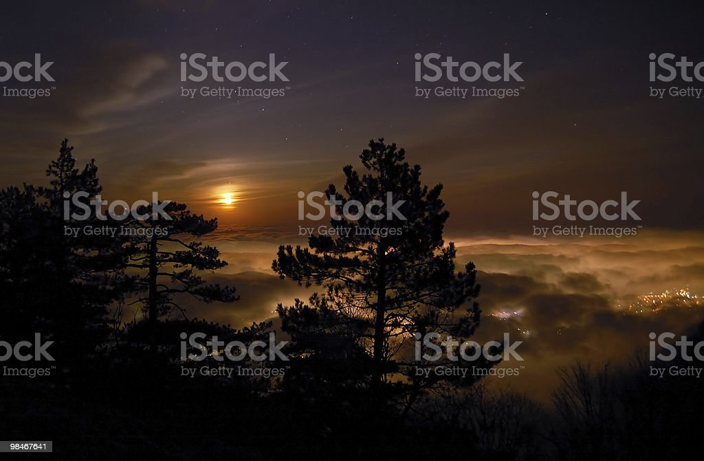 Glowing clouds royalty-free stock photo