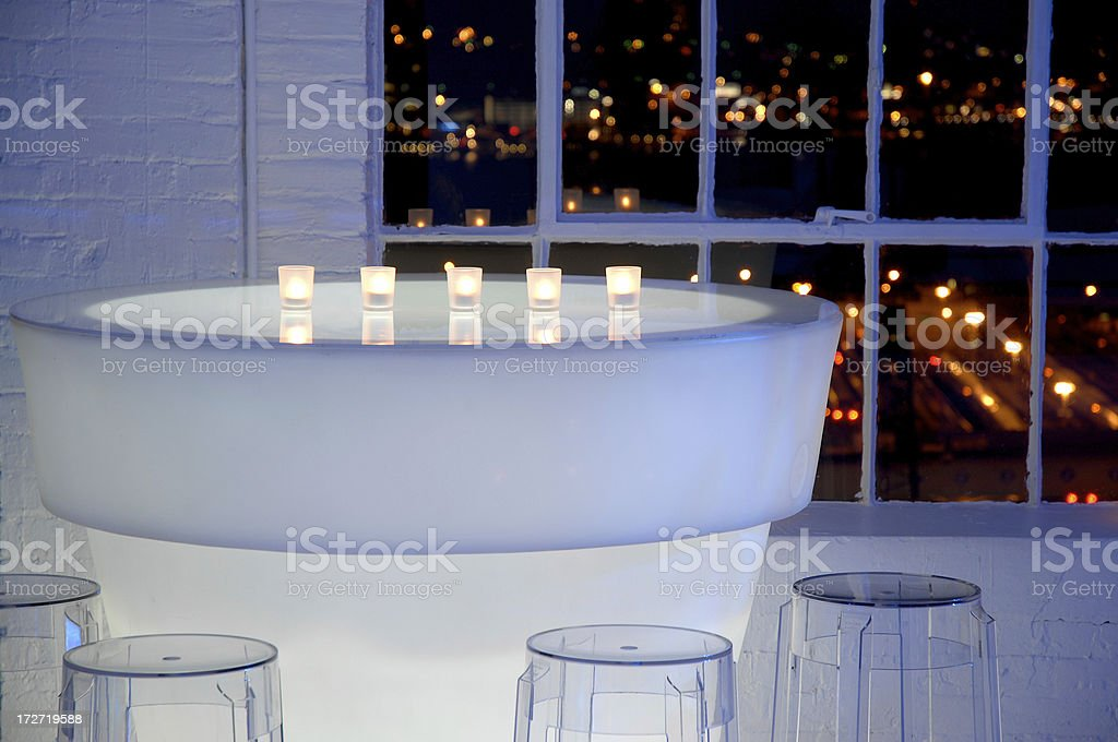Glowing Cocktail Table royalty-free stock photo
