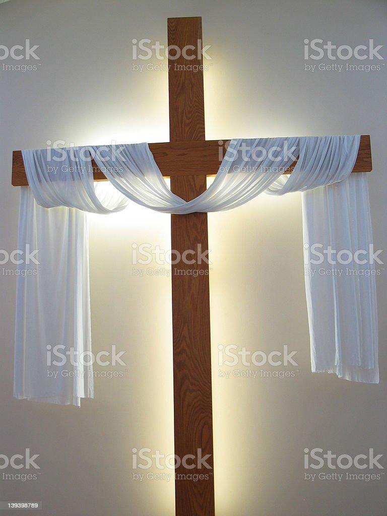 Glowing Cross Bright stock photo