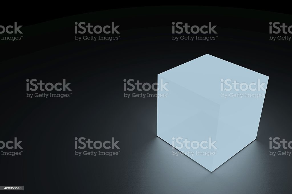 Glowing cube royalty-free stock photo