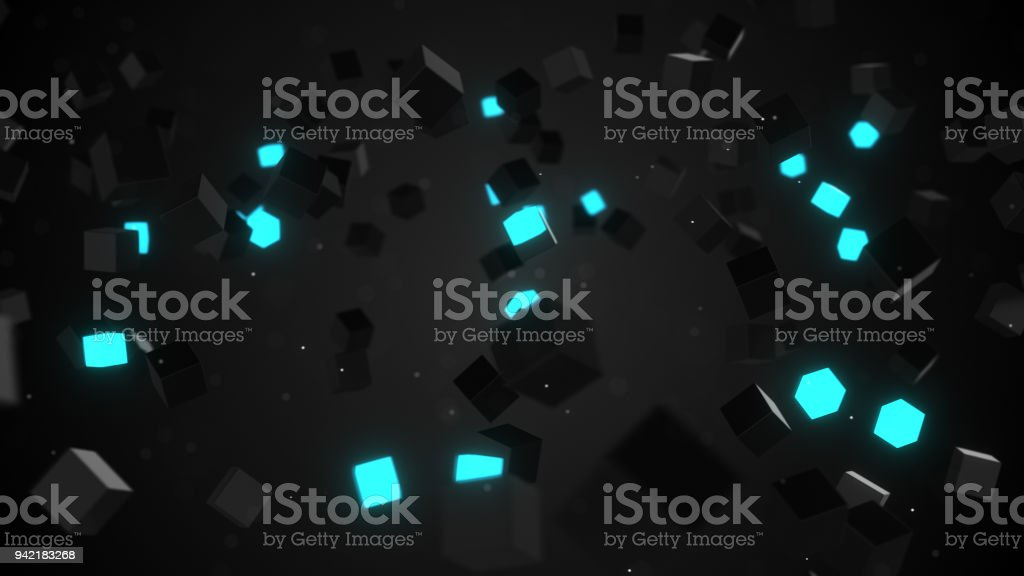 glowing cubes abstract background stock photo more pictures of