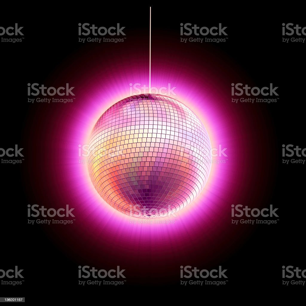 Glühend disco ball – Foto