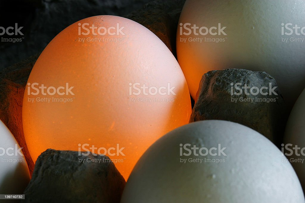 Glowing Egg 02 royalty-free stock photo