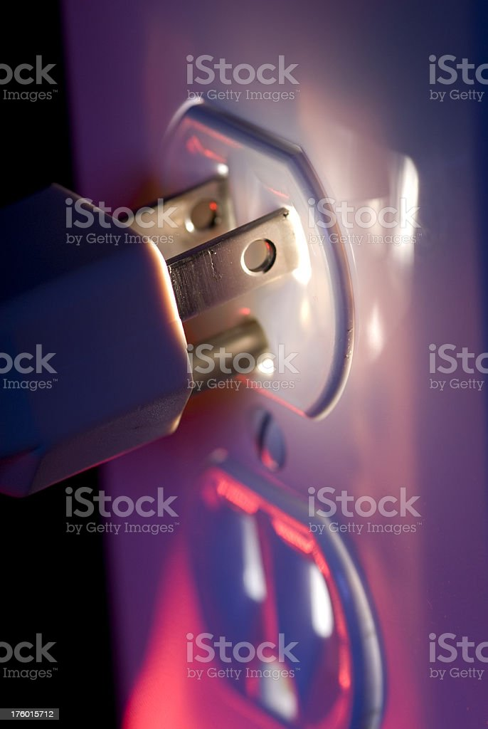 Glowing Electric Receptacle royalty-free stock photo