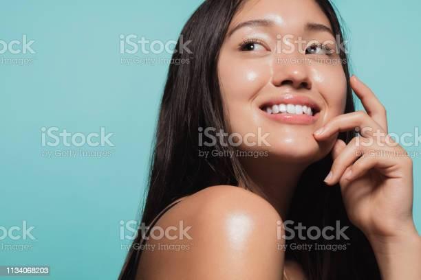Photo of Glowing face of beautiful girl