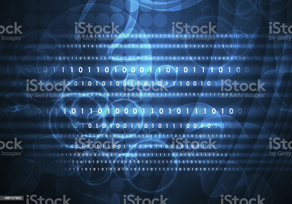 Glowing figures and circles. Hi-tech background stock photo