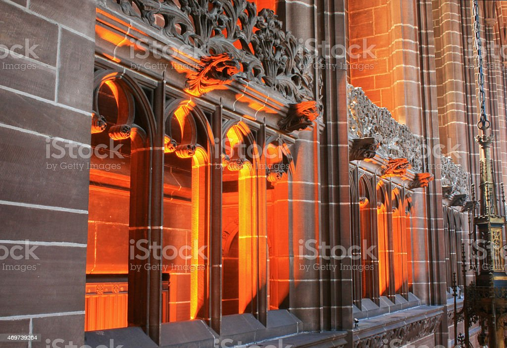 Glowing Gargoyles royalty-free stock photo