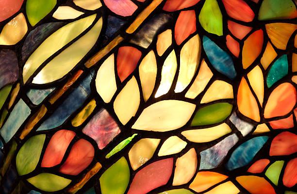 Glowing Glass Art Pattern bildbanksfoto