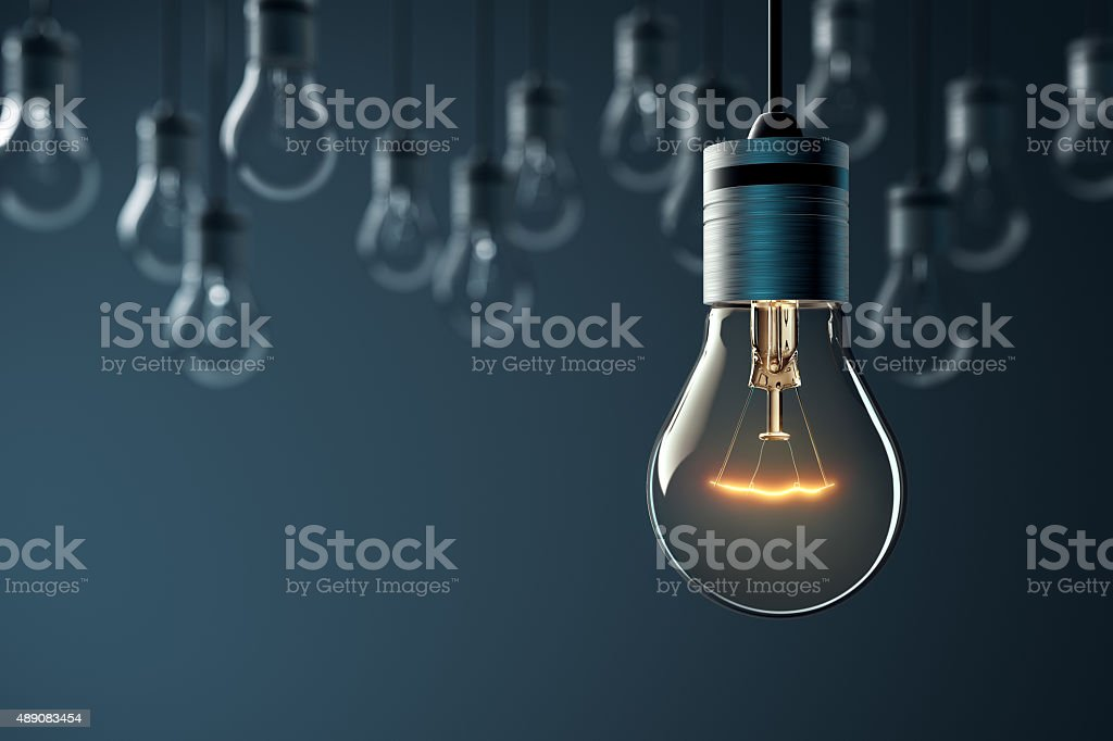 Glowing Hanging Light Bulb stock photo ... & Royalty Free Light Bulb Pictures Images and Stock Photos - iStock azcodes.com