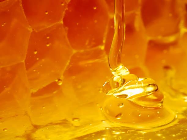 Glowing honeyfall stock photo
