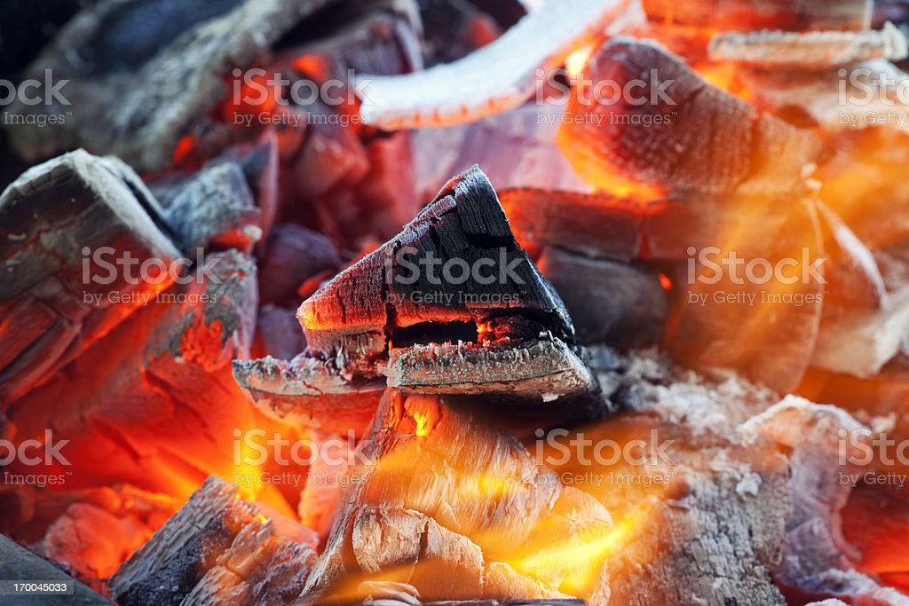 Glowing hot fire royalty-free stock photo