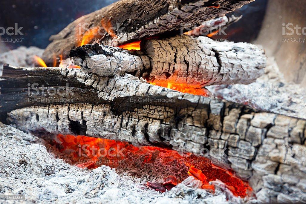 Glühend warmen Holz Embers – Foto