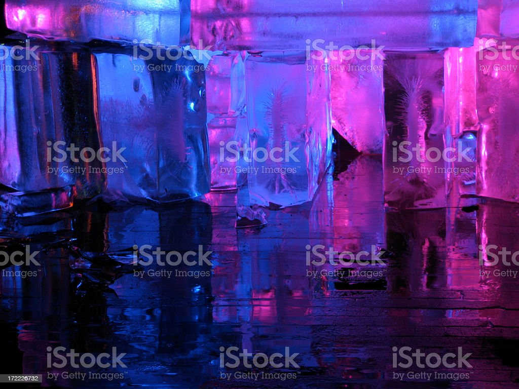 Glowing Ice - blue stock photo
