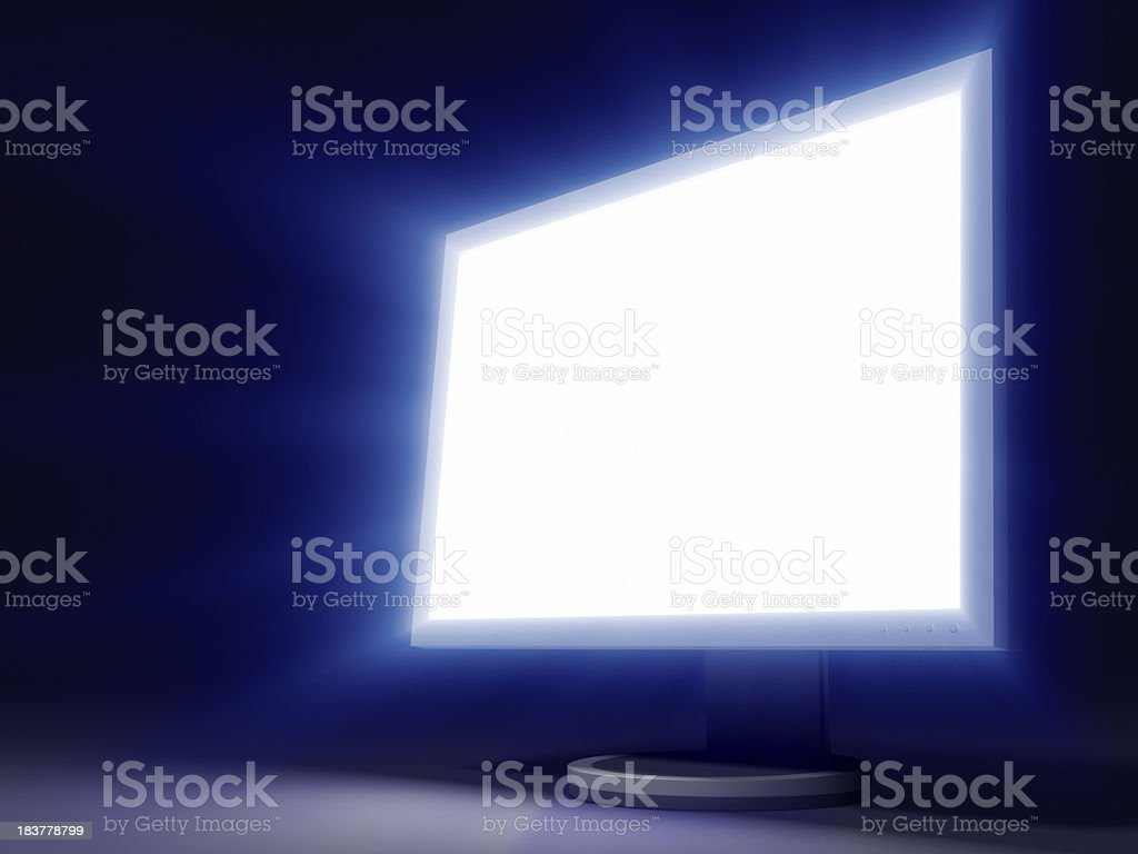Glowing LCD Panel stock photo