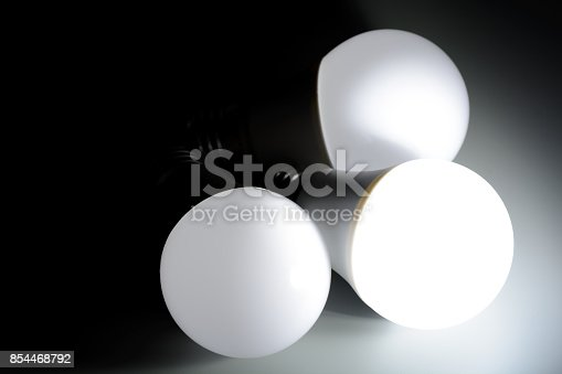 istock Glowing led light in the dark 854468792