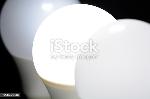 854468792 istock photo Glowing led light in the dark 854468846