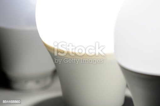 854468792 istock photo Glowing led light in the dark 854468860