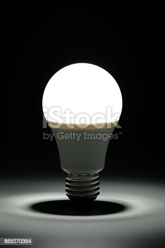 istock Glowing led light in the dark 855270354
