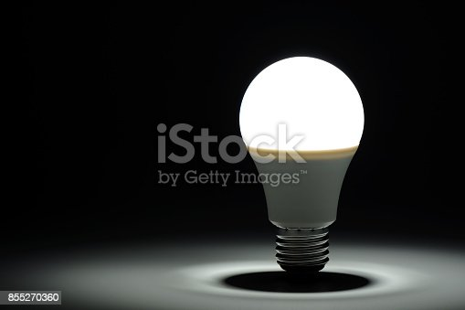 istock Glowing led light in the dark 855270360