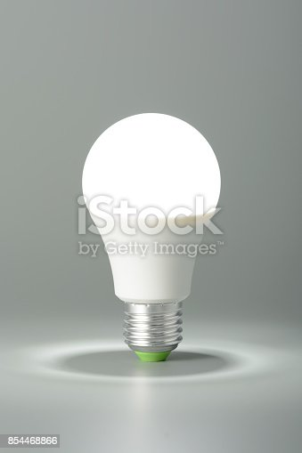 istock Glowing led light on gray background 854468866